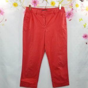 Lafayette 148 Coral Cropped Cuffed Pants